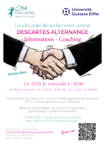 Affiche Descartes alternance CFA Descartes 2020