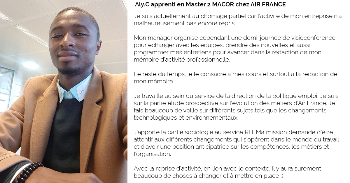 Témoignage Aly - M2 MACOR