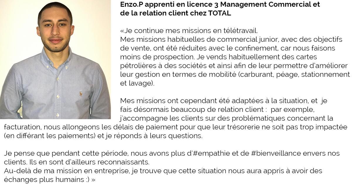 Témoignage Enzo L3 MCRC
