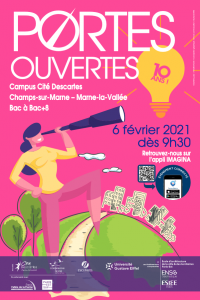 Affiche JPO Campus Descartes 2021